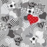 De naadloze achtergrond van harten vector illustratie