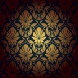 De naadloze achtergrond van het behangpatroon. Vector royalty-vrije illustratie