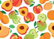 De naadloze achtergrond van het fruit Stock Fotografie