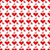 De naadloze Achtergrond van het Hart vector illustratie