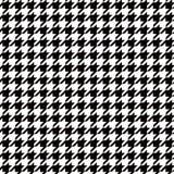 De naadloze achtergrond van het houndstooth zwart-witte patroon Stock Foto's
