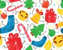 De Naadloze Achtergrond van het Kerstmiskarakter Royalty-vrije Stock Afbeelding