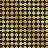 De naadloze achtergrond van het de ventilatorpatroon van Art Deco zwarte en gouden stock illustratie