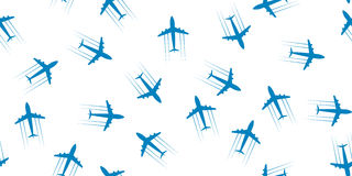 De naadloze achtergrond van het vliegtuig royalty-vrije illustratie