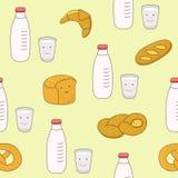 De naadloze achtergrond van het voedsel Stock Afbeelding