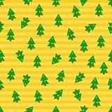 De Naadloze Achtergrond van kerstbomen Stock Afbeelding