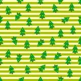 De Naadloze Achtergrond van kerstbomen Stock Afbeeldingen