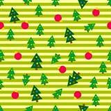 De Naadloze Achtergrond van kerstbomen Royalty-vrije Stock Fotografie