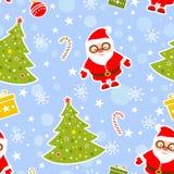 De naadloze Achtergrond van Kerstmis Stock Foto