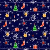 De naadloze achtergrond van Kerstmis Stock Foto's