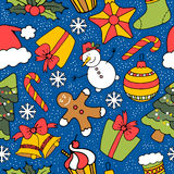 De naadloze achtergrond van Kerstmis stock illustratie