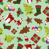 De naadloze achtergrond van Kerstmis Stock Afbeelding