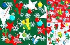 De naadloze achtergrond van Kerstmis en van het Nieuwjaar Stock Afbeeldingen