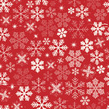 De naadloze Achtergrond van Kerstmissneeuwvlokken Royalty-vrije Stock Afbeelding
