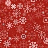 De naadloze Achtergrond van Kerstmissneeuwvlokken Stock Afbeelding