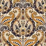 De naadloze achtergrond van Paisley, bloemenpatroon Kleurrijke sier vector illustratie