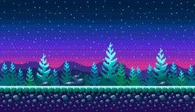 De naadloze achtergrond van de pixelkunst Stock Afbeelding