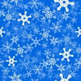 De naadloze achtergrond van sneeuwvlokken Royalty-vrije Stock Foto