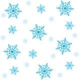 De naadloze achtergrond van sneeuwvlokken Stock Afbeelding