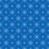 De naadloze achtergrond van sneeuwvlokken Stock Fotografie