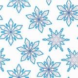 De naadloze achtergrond van sneeuwvlokken Vector Royalty-vrije Stock Foto