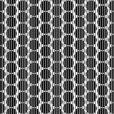 De naadloze achtergrond van strepencirkels stock illustratie
