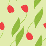 De naadloze achtergrond van tulpen Stock Illustratie