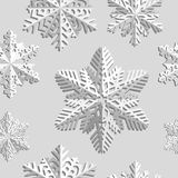 De naadloze achtergrond van de winter met sneeuwvlokken De wintervakantie en Kerstmisachtergrond Stock Fotografie