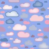De Naadloze Achtergrond van wolken Royalty-vrije Stock Foto's