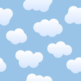 De naadloze Achtergrond van Wolken Stock Foto