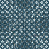 De naadloze blauwe uitstekende achtergrond van het bloempatroon Royalty-vrije Stock Foto's