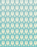 De naadloze Bloem Backgrou van het Patroon Blauwe Retro Damast Stock Afbeeldingen