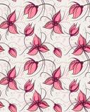 De naadloze bloemen van de patroon rode orchidee Stock Foto's