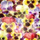 De naadloze bloemen van het patroonviooltje. Vector, EPS10 Royalty-vrije Stock Afbeelding