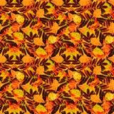 De naadloze bloemenbladeren van de patroonherfst Stock Foto