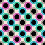 De naadloze cirkel stippelt kleurrijk patroon Royalty-vrije Stock Afbeelding