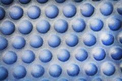 De naadloze cirkel zwelt patroon, Blauwe achtergrond stock afbeelding