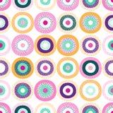 De naadloze creatieve modieuze krabbel stippelt speels patroon stock illustratie