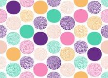 De naadloze creatieve modieuze krabbel stippelt speels patroon - Vector stock illustratie