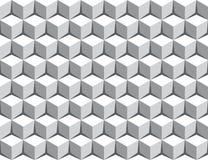 De naadloze 3d achtergrond van het kubuspatroon Stock Foto's