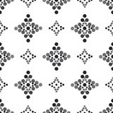 De naadloze diamant vormde grijs en zwart Stock Afbeeldingen