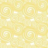 De naadloze die textuur op gele oker gouden lijnen wordt gebaseerd beweegt imitat spiraalsgewijs stock illustratie