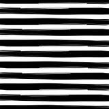 De naadloze Doorwevende Zwart-witte Achtergrond van de de Strepentextuur van Waterverfgrunge royalty-vrije illustratie