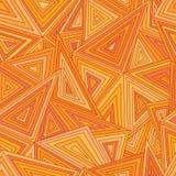 De naadloze driehoeken voorzien abstract patroon van tralies Royalty-vrije Stock Foto