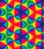 De naadloze Gekleurde Regenboog krult Patroon Geometrische kleurrijke abstracte achtergrond Royalty-vrije Stock Fotografie