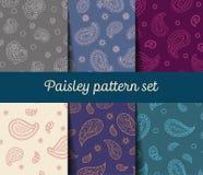 De naadloze geplaatste patronen van Paisley Stock Fotografie