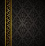 De naadloze gotische achtergrond van de luxe. royalty-vrije stock afbeeldingen