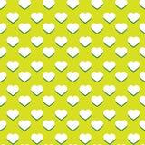 De naadloze groene achtergrond van het hartpatroon Stock Afbeelding