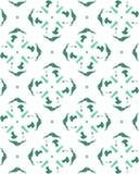 De naadloze groene vector van het visgraatpatroon Stock Fotografie