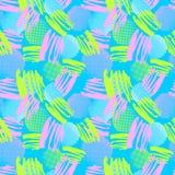 De naadloze het herhalen textielinktborstel strijkt patroon in krabbel g Royalty-vrije Stock Afbeeldingen